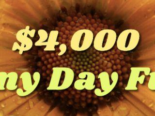 $4,000 Rainy Day Fund Sweepstakes