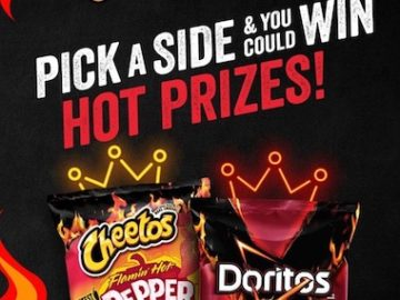 Cheetos Vs. Doritos Flamin' Hot Face-off Sweepstakes on Instagram