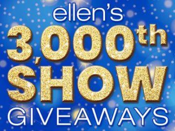 Ellen's 3,000th Show Giveaway