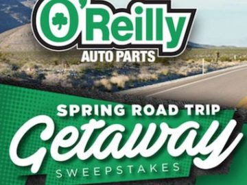 O'Reilly Spring Road Trip Getaway Sweepstakes