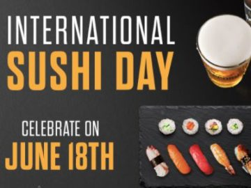 """""""Sapporo International Sushi Day"""" Sweepstakes (Limited States)"""