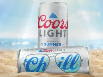 The Coors Light Memorial Day Sunglasses Sweepstakes (Photo on Twitter/Instagram)