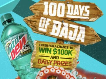 Mountain Dew 100 Days of Baja Sweepstakes and Instant Win Game (Code)