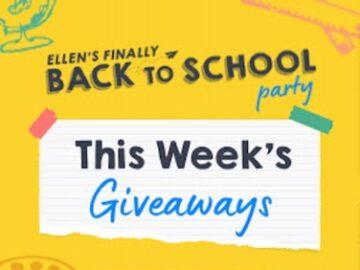 Ellen's Back To School Giveaways