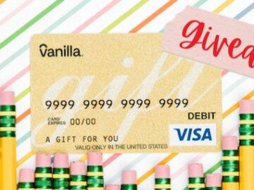 Vanilla Gift Back to School Giveaway (Facebook )