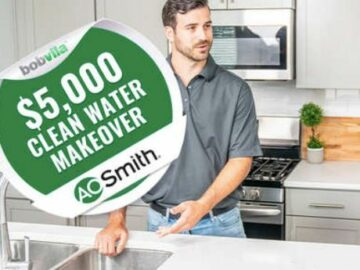 Bob Vila's $5,000 Clean Water Makeover Giveaway with A. O. Smith