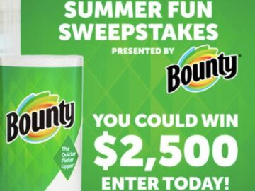 Bounty On Air With Ryan Seacrest's Summer Fun Sweepstakes Bounty