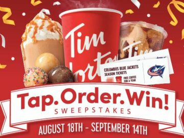 Tim Horton's Tap, Order, Win Sweepstakes (Limited States)