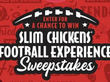 Slim Chickens Football Experience Sweepstakes (Limited States)