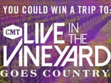 CMT Cody Live in the Vineyard Goes Country Sweepstakes